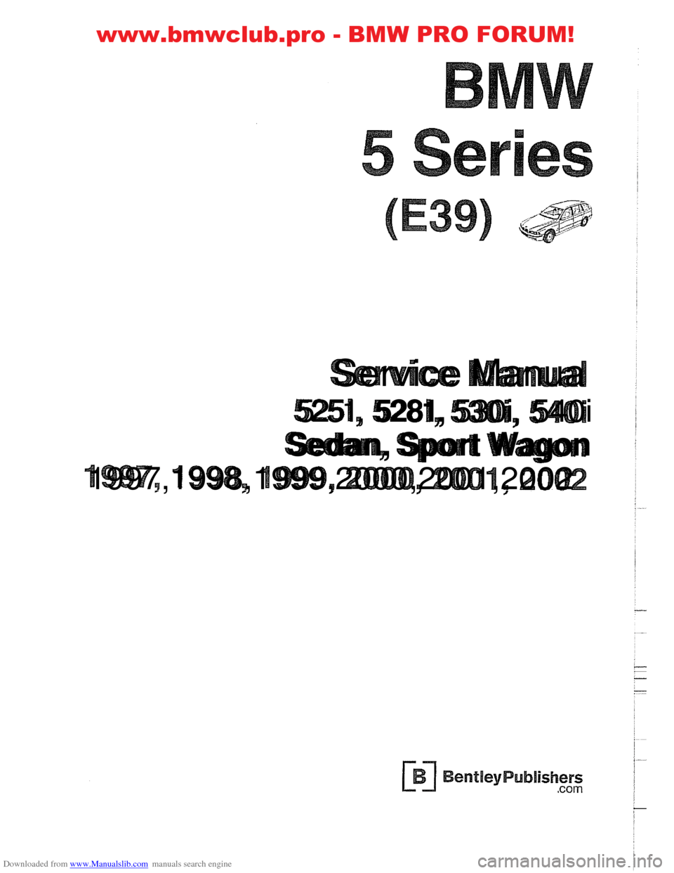 BMW 540i 1997 E39 Workshop Manual