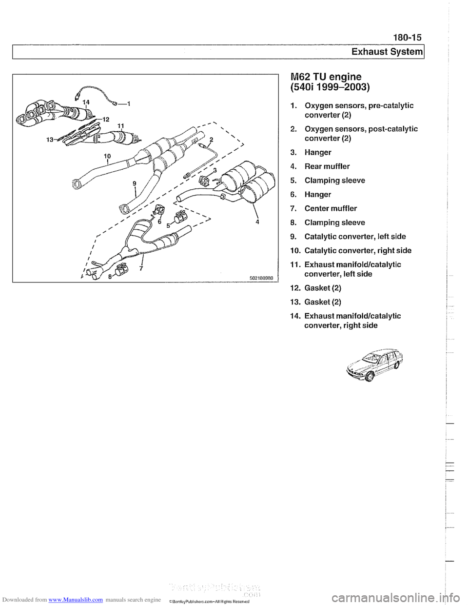 BMW 540i 1998 E39 Workshop Manual