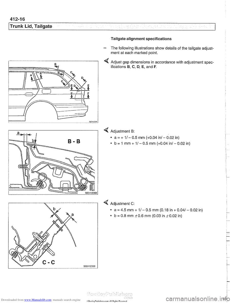 BMW 528i 2000 E39 Workshop Manual (1002 Pages), Page 850