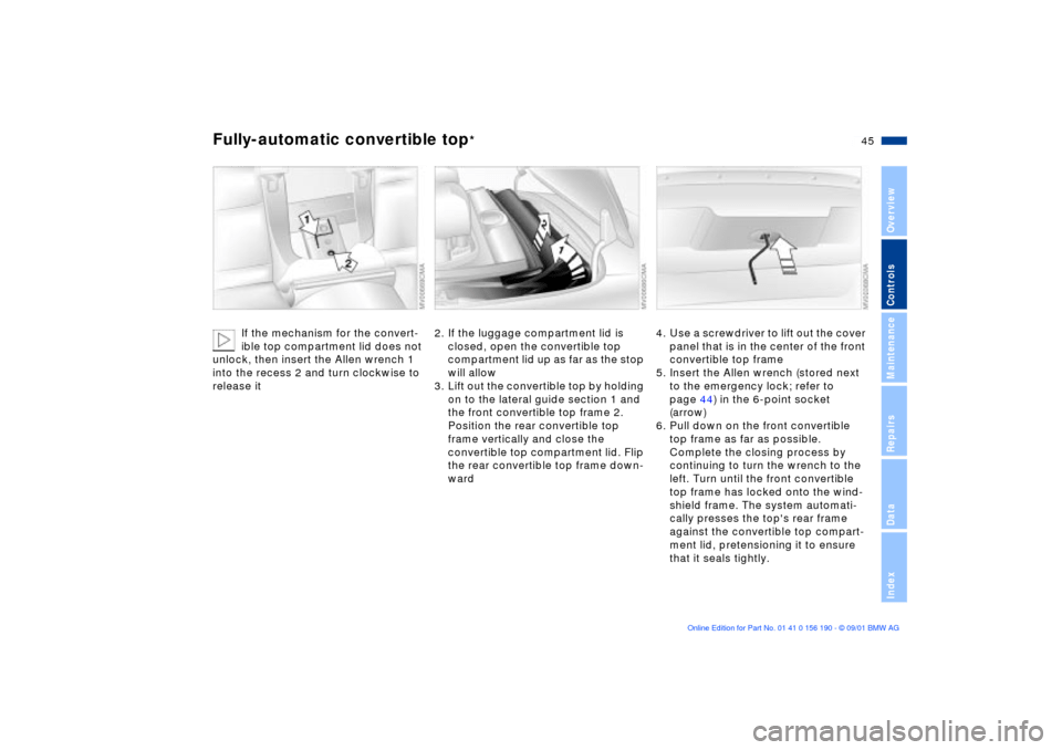 BMW 325Ci CONVERTIBLE 2002 E46 Service Manual (159 Pages)