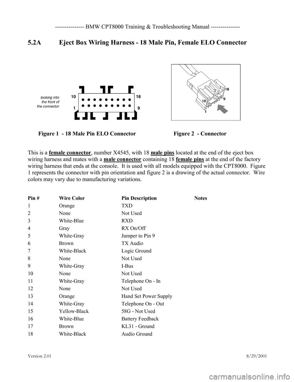 hight resolution of bmw 3 series 2000 e46 cpt8000 electrical connectors and wiring diagrams workshop manual