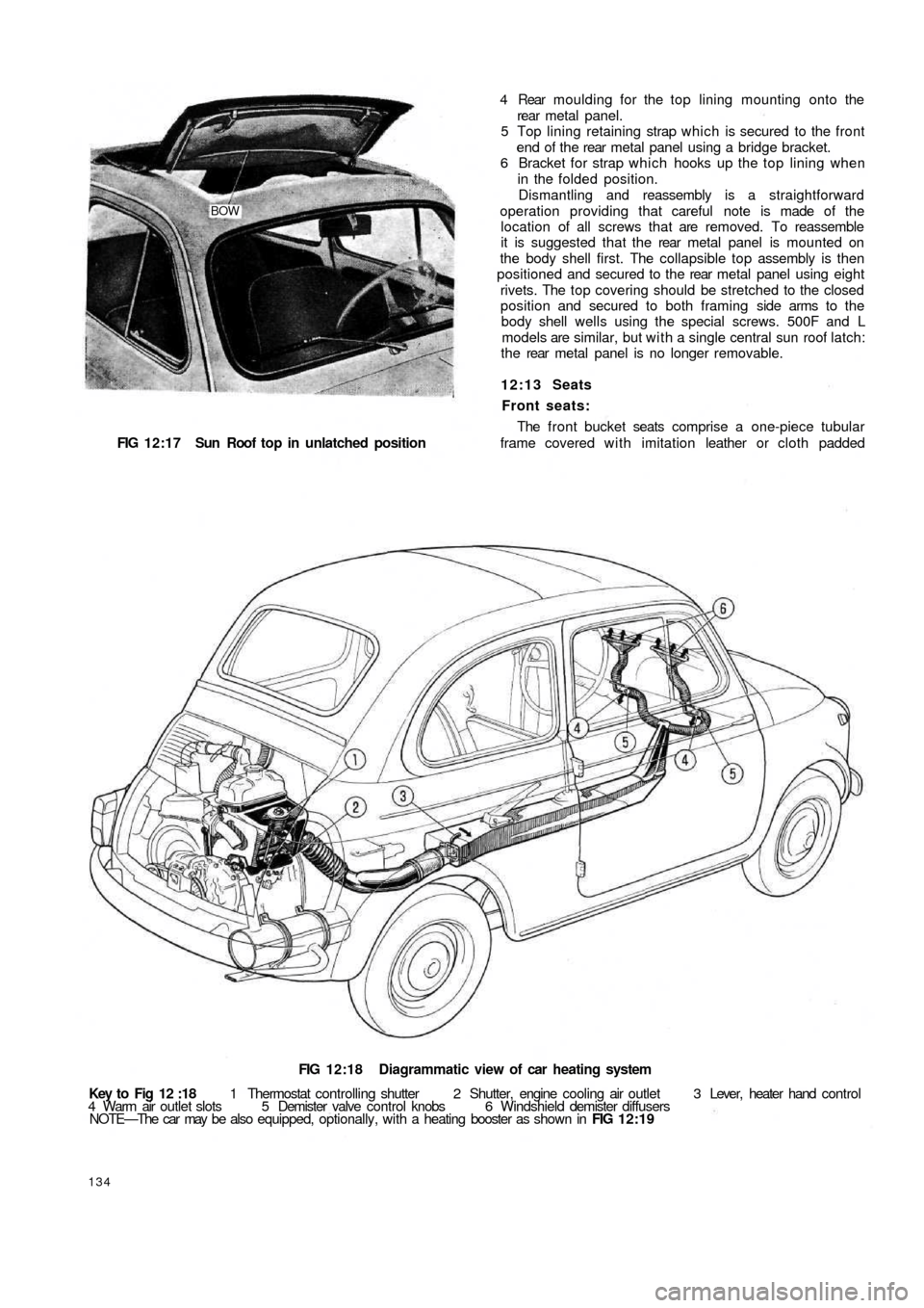 FIAT 500 1960 1.G Workshop Manual