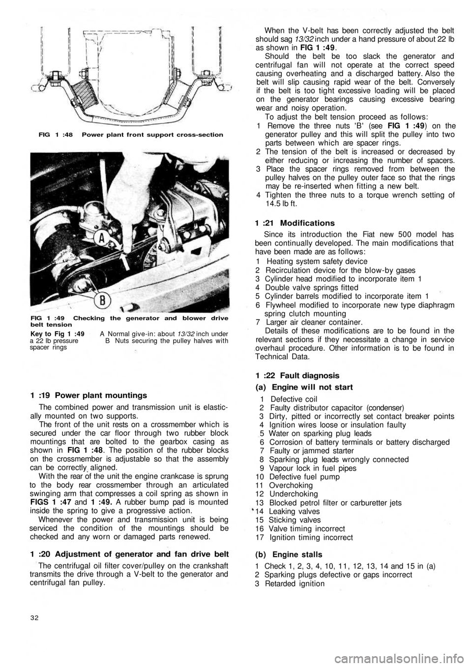oil type FIAT 500 1969 1.G Workshop Manual