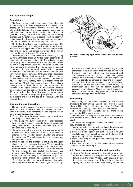 FIAT 500 1962 1.G Workshop Manual