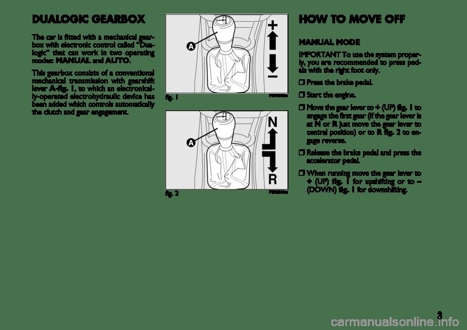 FIAT LINEA 2007 1.G Dualogic Transmission Manual (22 Pages)