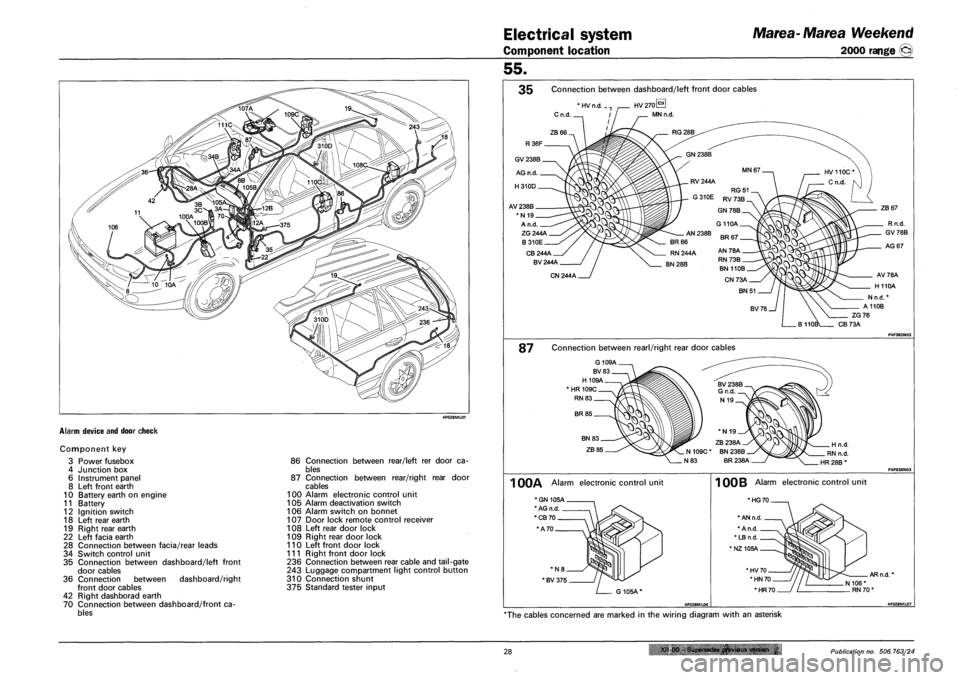 FIAT MAREA 2000 1.G Workshop Manual