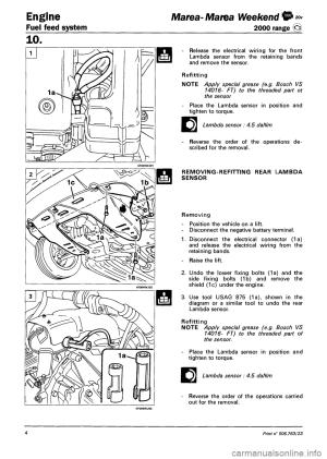 FIAT MAREA 2000 1G Workshop Manual