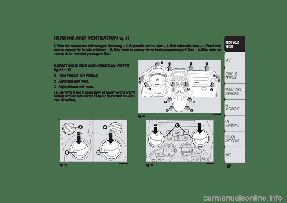 FIAT PANDA 2009 169 / 2.G Owners Manual