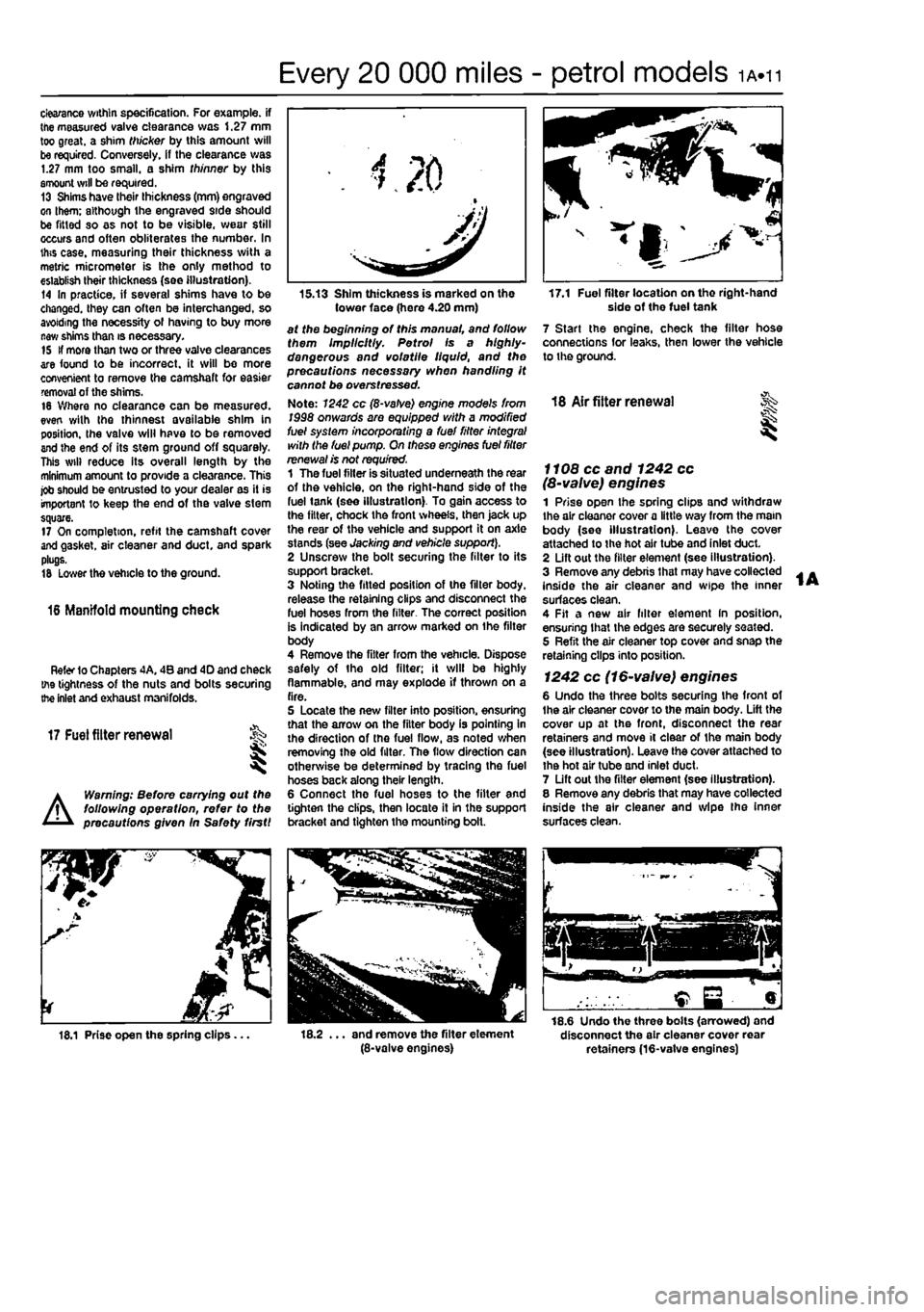 FIAT PUNTO 1994 176 / 1.G Workshop Manual