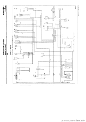 FIAT PUNTO 1997 176  1G Wiring Diagrams Workshop Manual