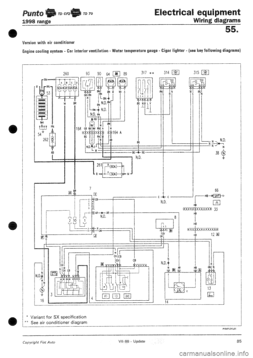 small resolution of fiat punto 1998 176 1 g wiring diagrams workshop manual