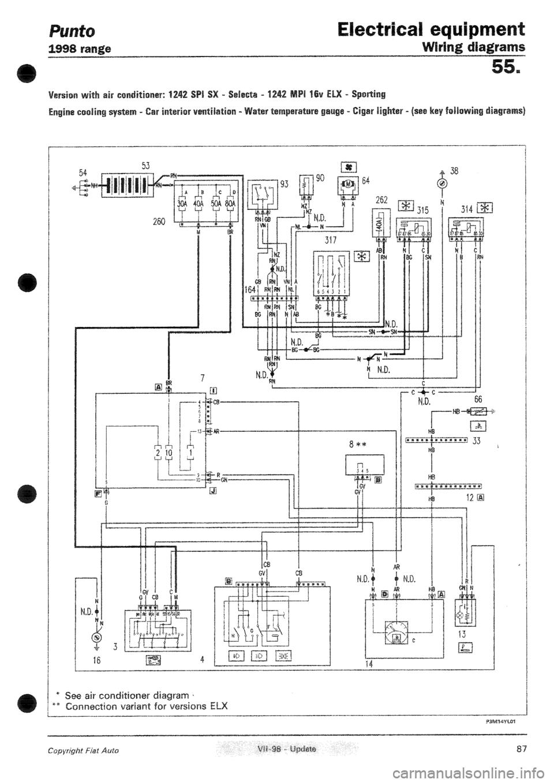 medium resolution of fiat punto wiring diagram mk2 wiring libraryfiat punto wiring diagram fiat punto wiring diagram for stereo