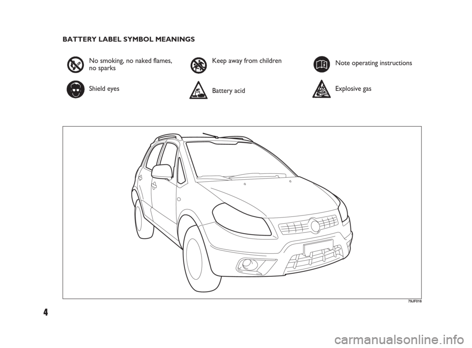 FIAT SEDICI 2009 2.G Owners Manual