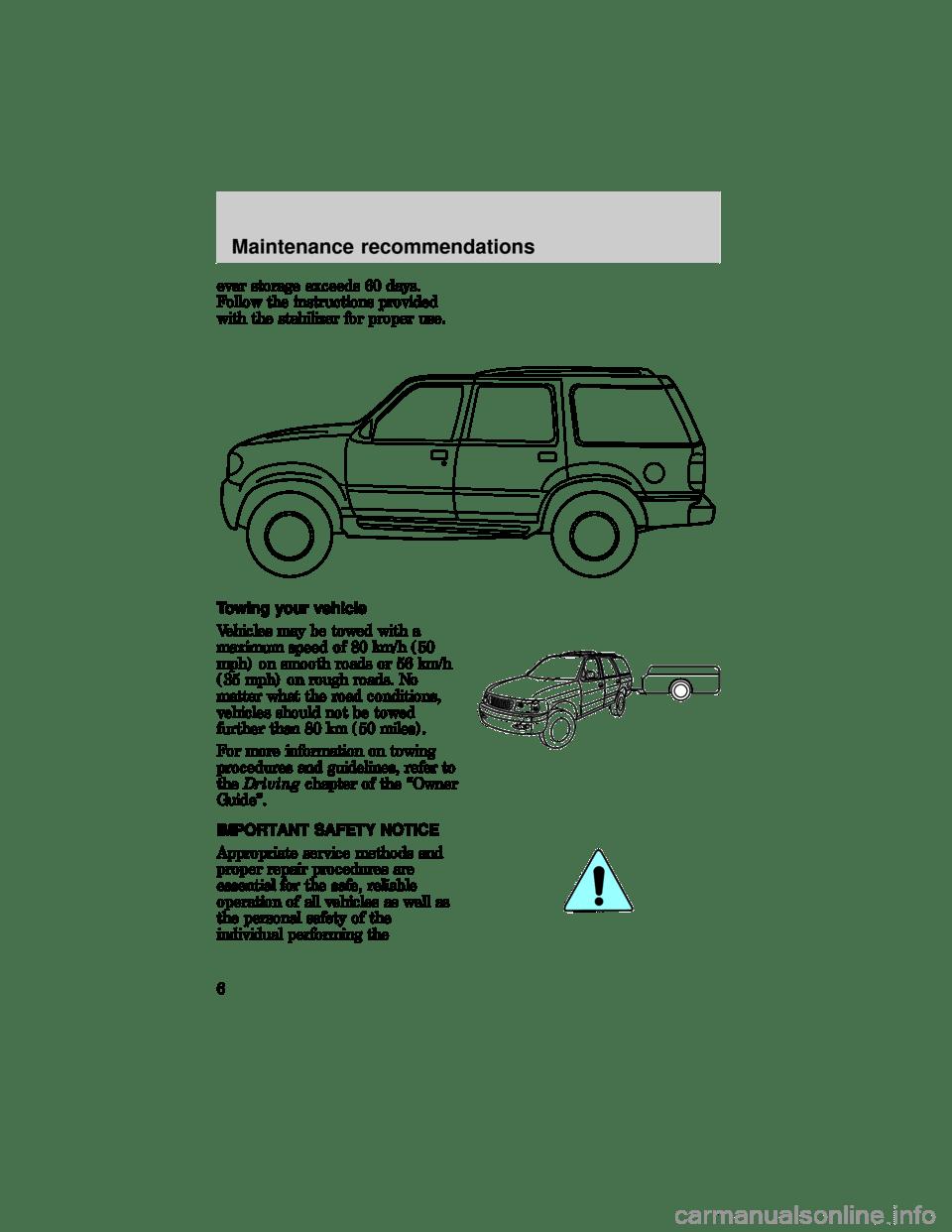 FORD EXPLORER 1997 2.G Severe Duty Supplement Manual