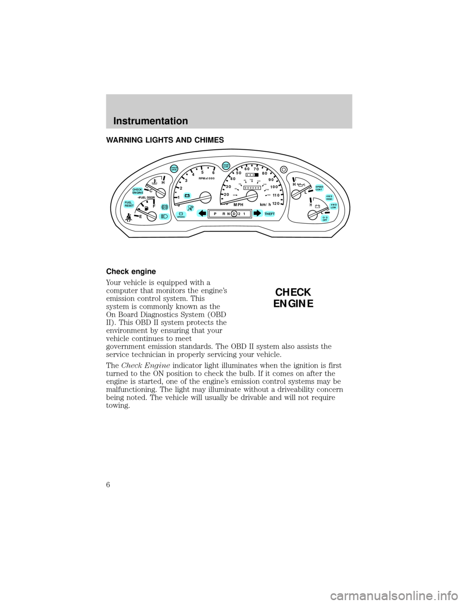 FORD EXPLORER 1998 2.G Owners Manual