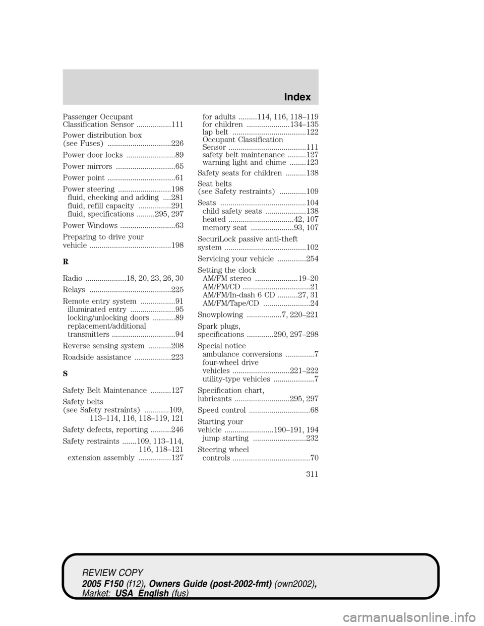 medium resolution of ford f150 2005 11 g owners manual page 311