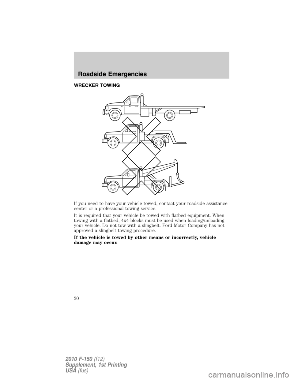 FORD F150 2010 12.G Raptor Supplement Manual