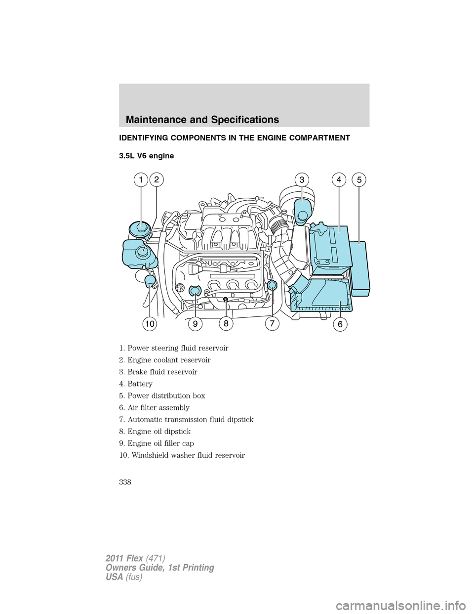 medium resolution of ford flex 2011 1 g owners manual page 338