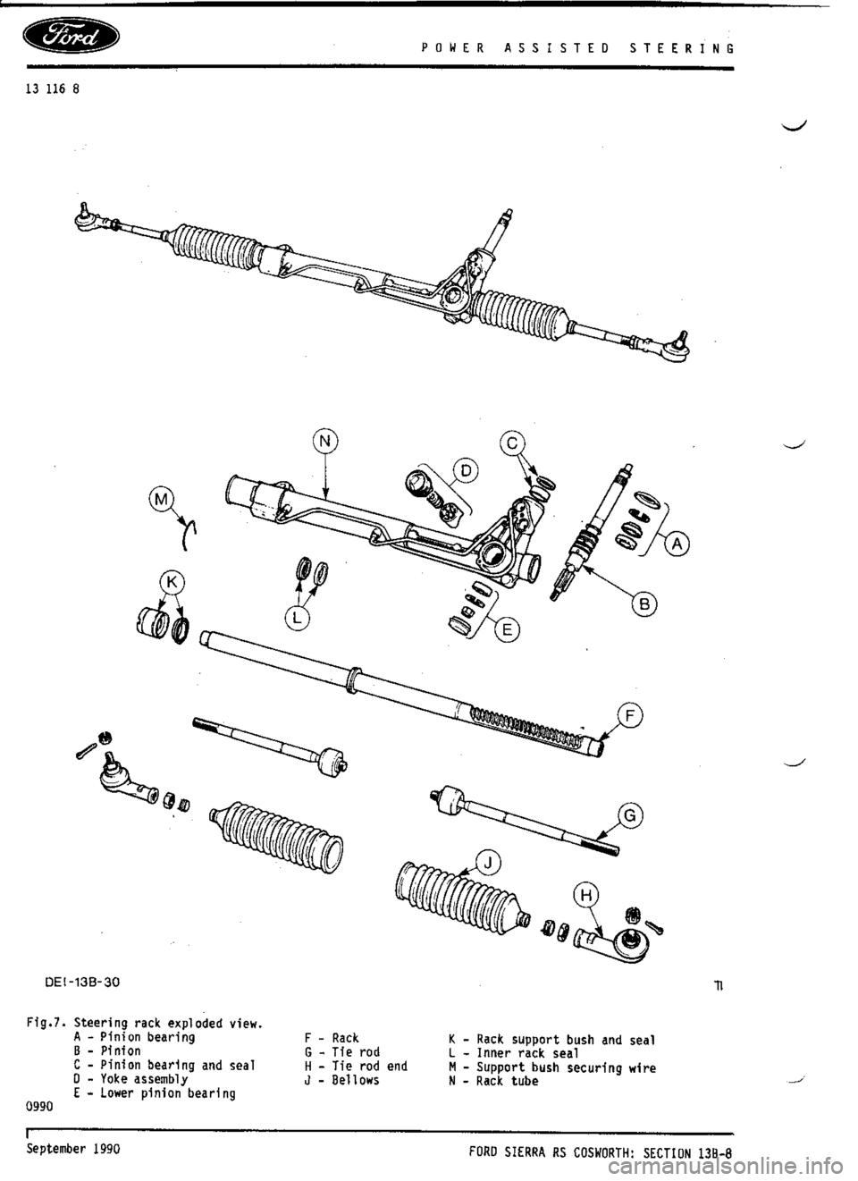 FORD SIERRA RS COSWORTH 1988 1.G Workshop Manual (993