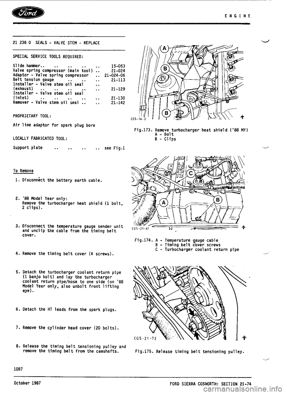 FORD ESCORT RS COSWORTH 1993 1.G Workshop Manual