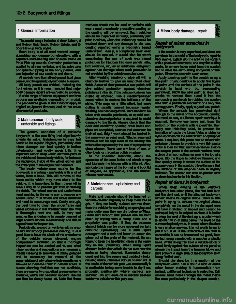 FORD SIERRA 1988 2.G Bodywork And Fittings Workshop Manual
