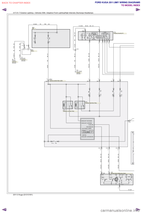small resolution of ford kuga 2011 1 g wiring diagram workshop manual page 287