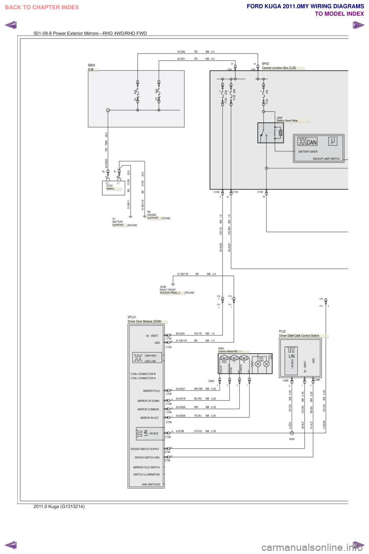 medium resolution of ford kuga 2011 1 g wiring diagram workshop manual page 396