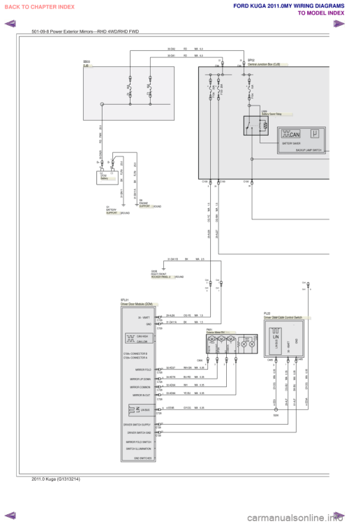 small resolution of ford kuga 2011 1 g wiring diagram workshop manual page 396