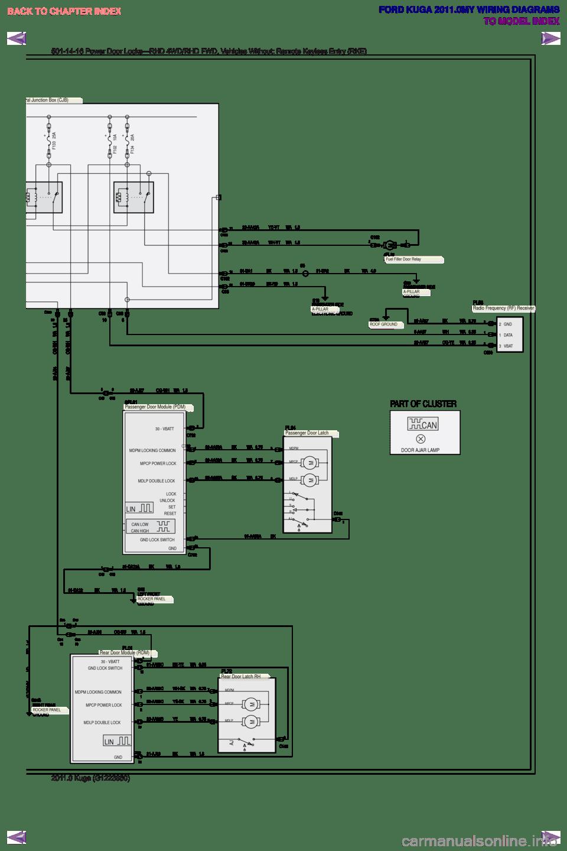 FORD KUGA 2011 1.G Wiring Diagram Workshop Manual (655