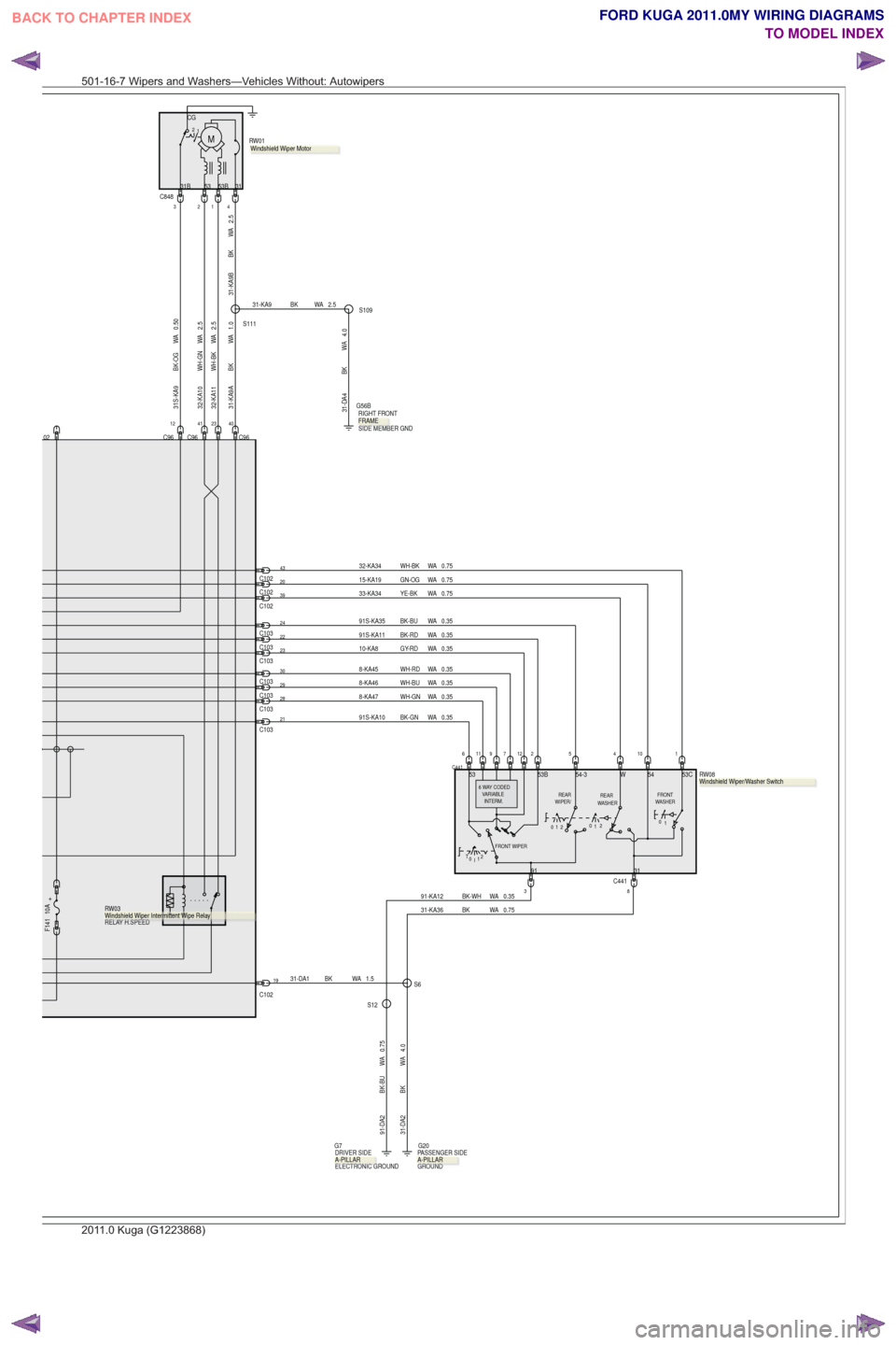 hight resolution of ford kuga 2011 1 g wiring diagram workshop manual page 471