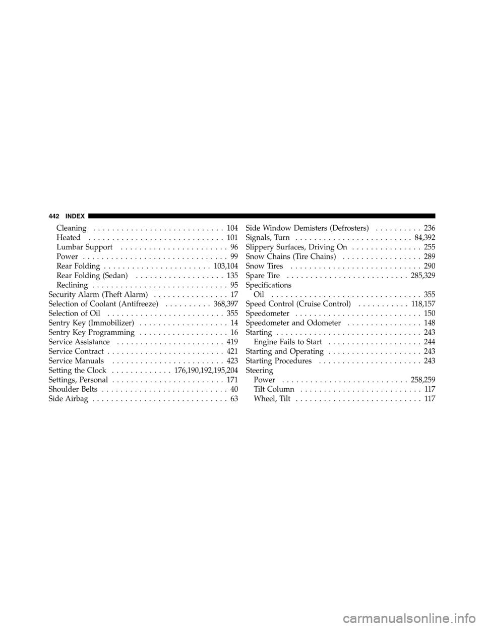 DODGE AVENGER 2010 2.G Owners Manual