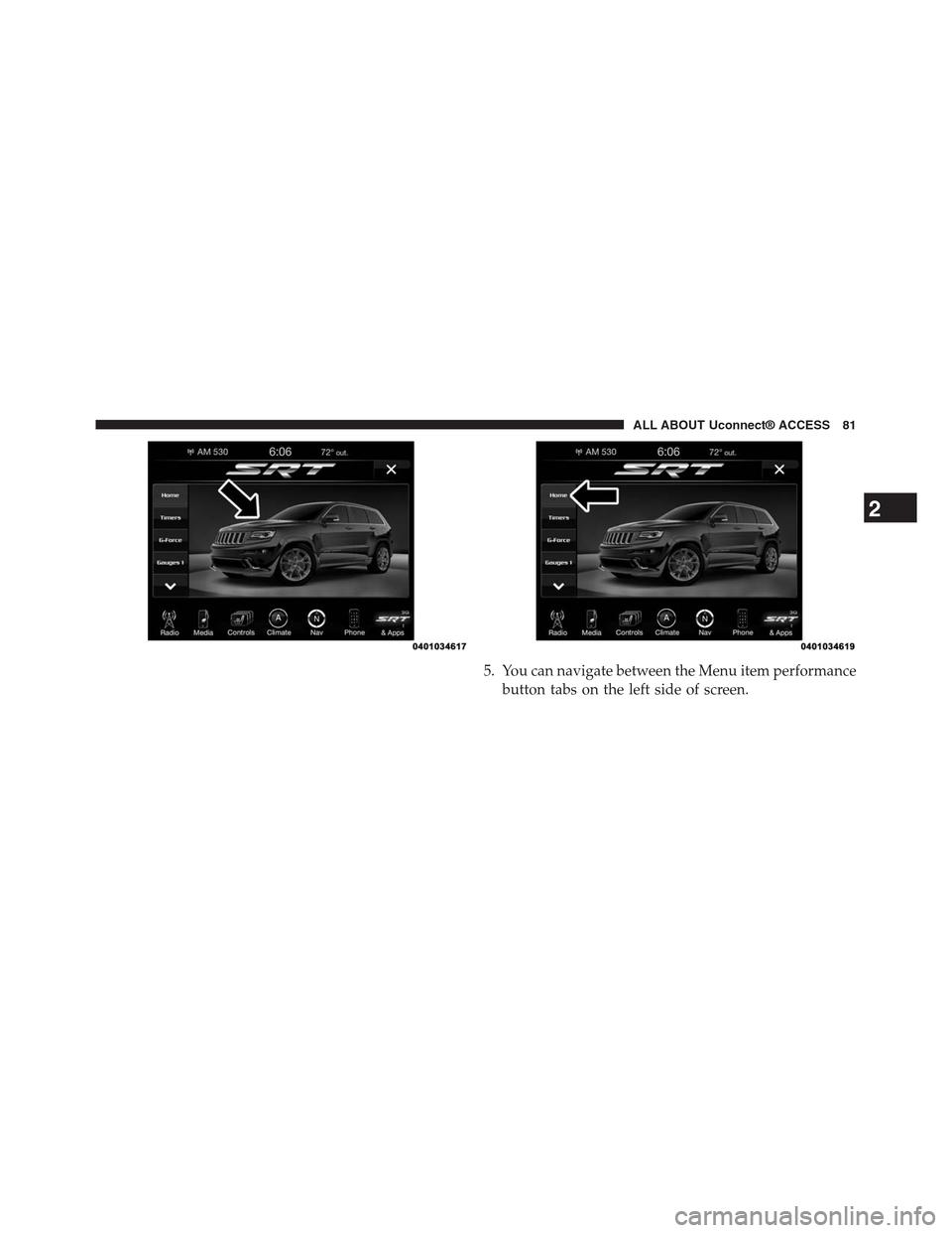 DODGE CHARGER SRT 2015 7.G Uconnect 8.4A