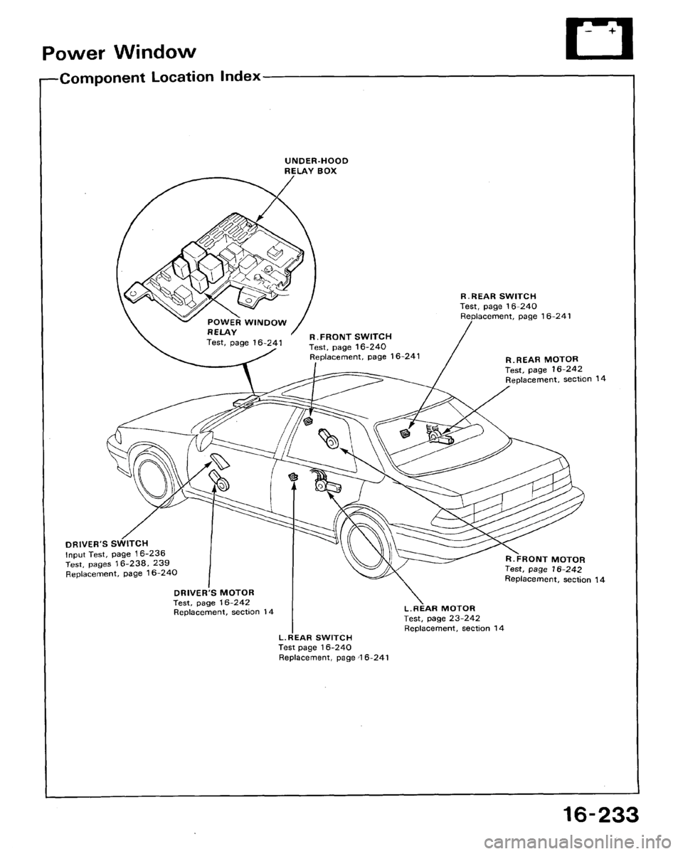 HONDA ACCORD 1994 CB / 4.G Workshop Manual
