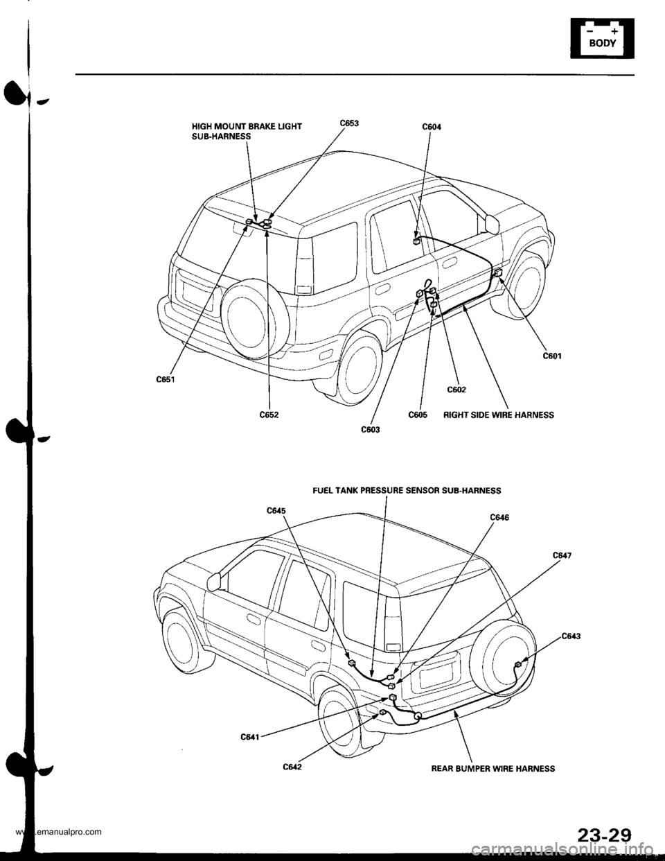 HONDA CR-V 1997 RD1-RD3 / 1.G Workshop Manual