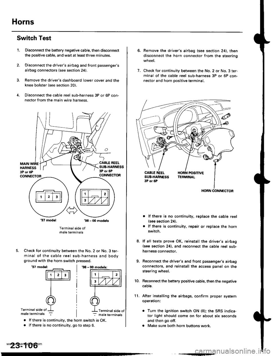 medium resolution of honda cr v 2000 rd1 rd3 1 g workshop manual page horns