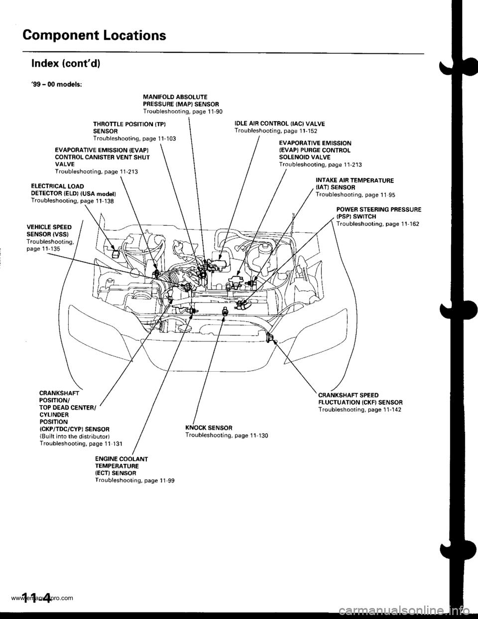engine coolant HONDA CR-V 1998 RD1-RD3 / 1.G Workshop Manual