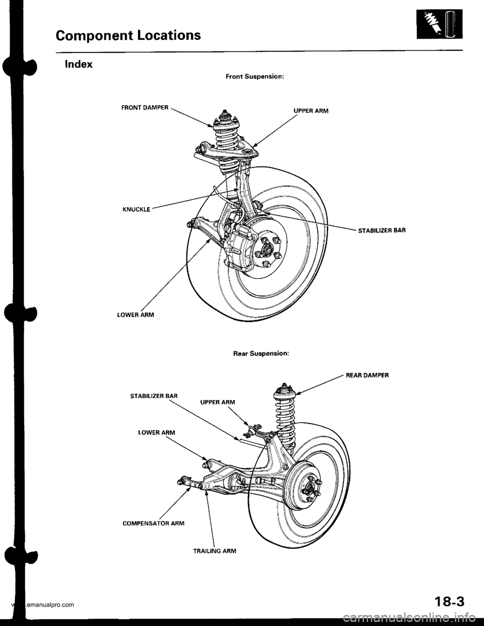 HONDA CR-V 2000 RD1-RD3 / 1.G Workshop Manual
