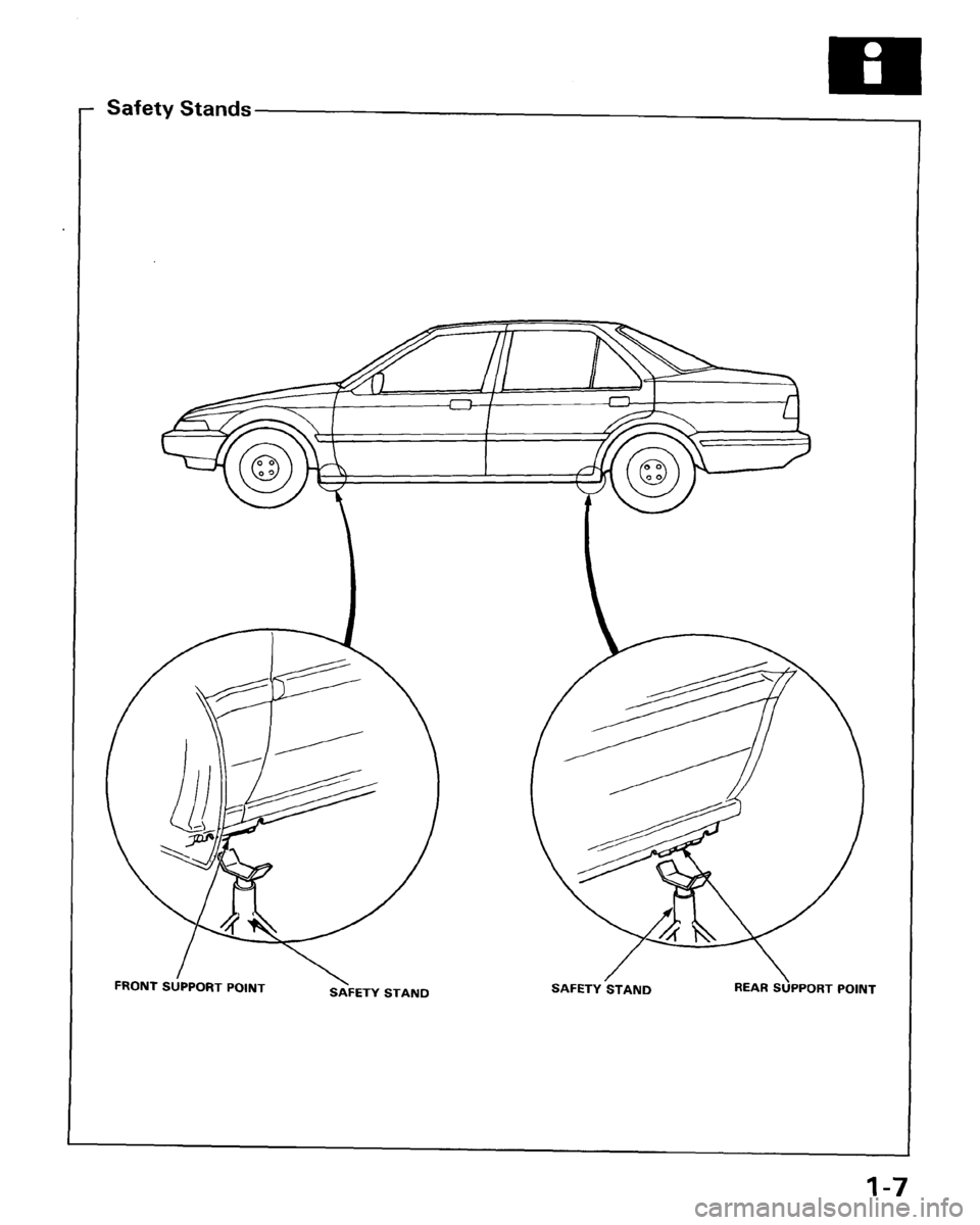 HONDA ACCORD 1986 CA / 3.G Workshop Manual