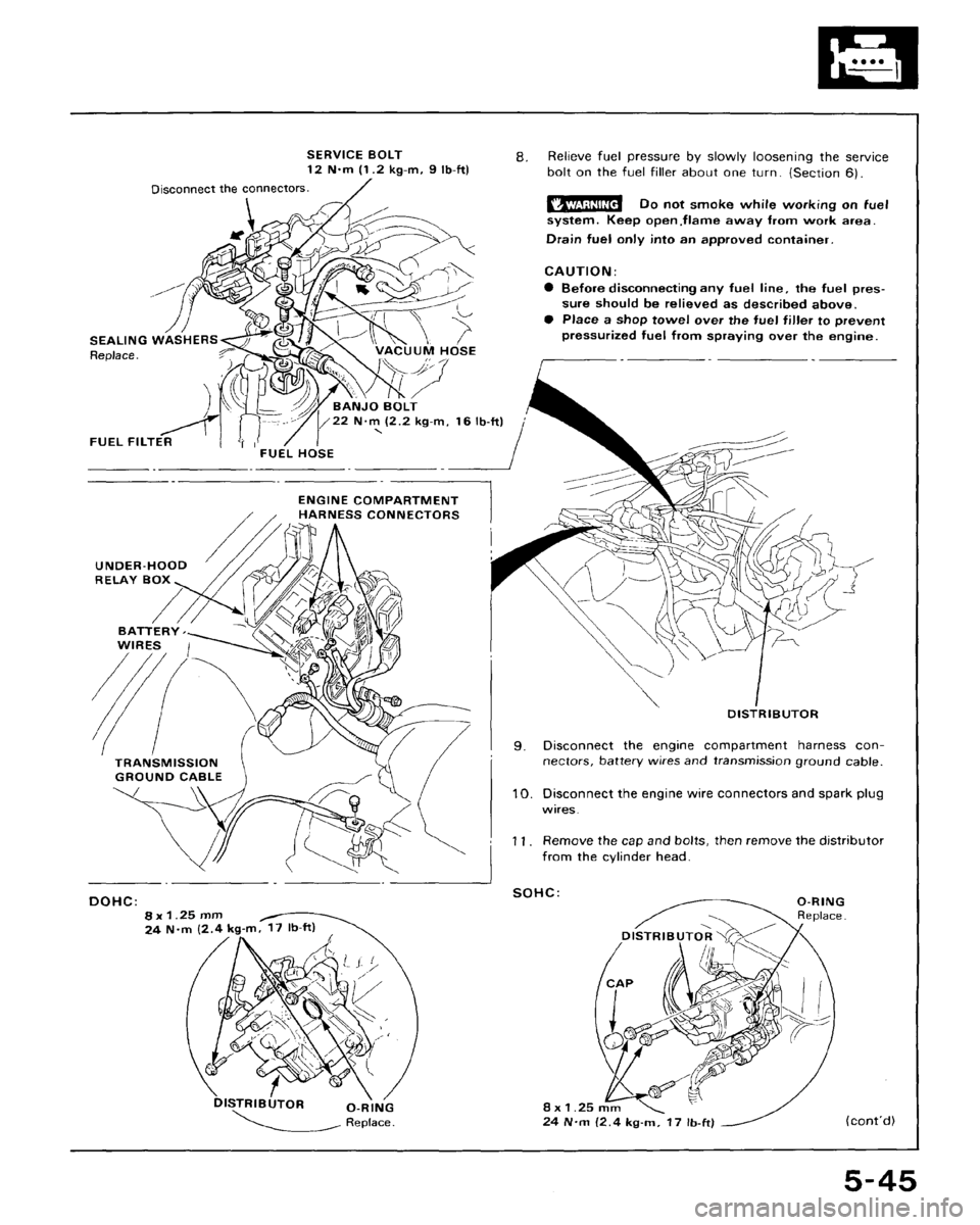 HONDA CRX 1988 2.G Workshop Manual (166 Pages), Page 160: