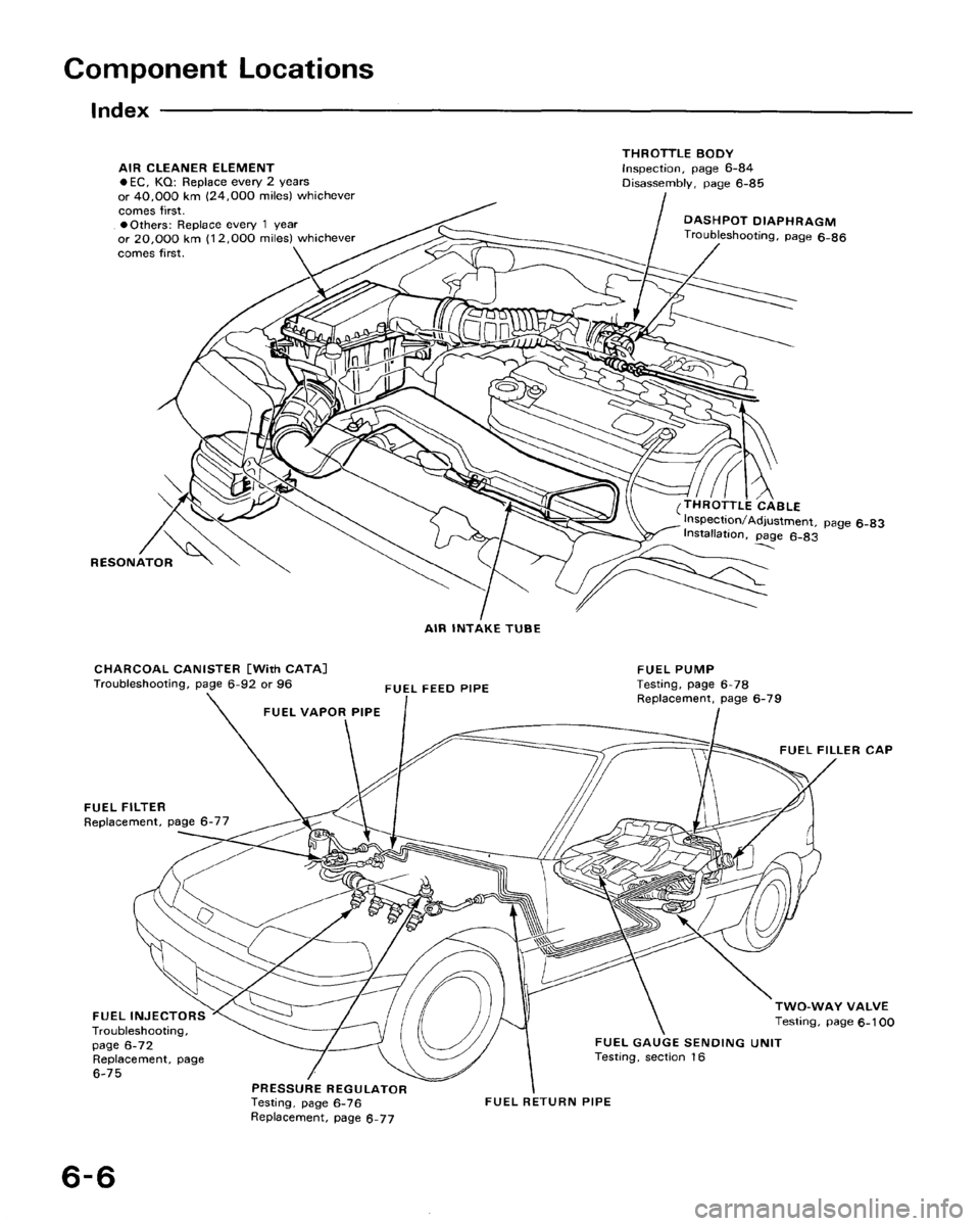 HONDA CRX 1988 2.G Workshop Manual (166 Pages)