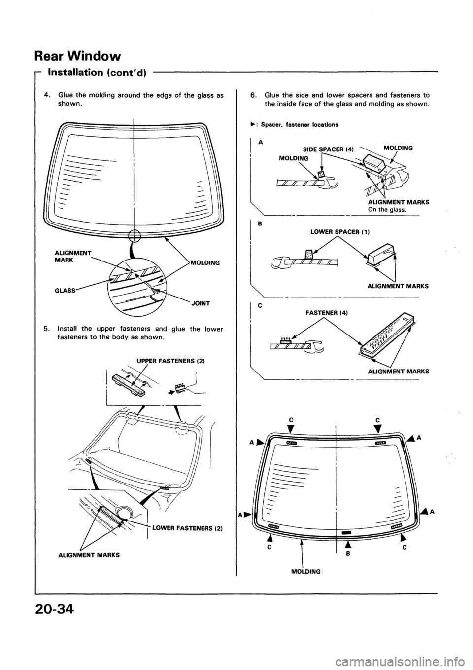 HONDA CIVIC 1994 5.G Workshop Manual (1258 Pages), Page