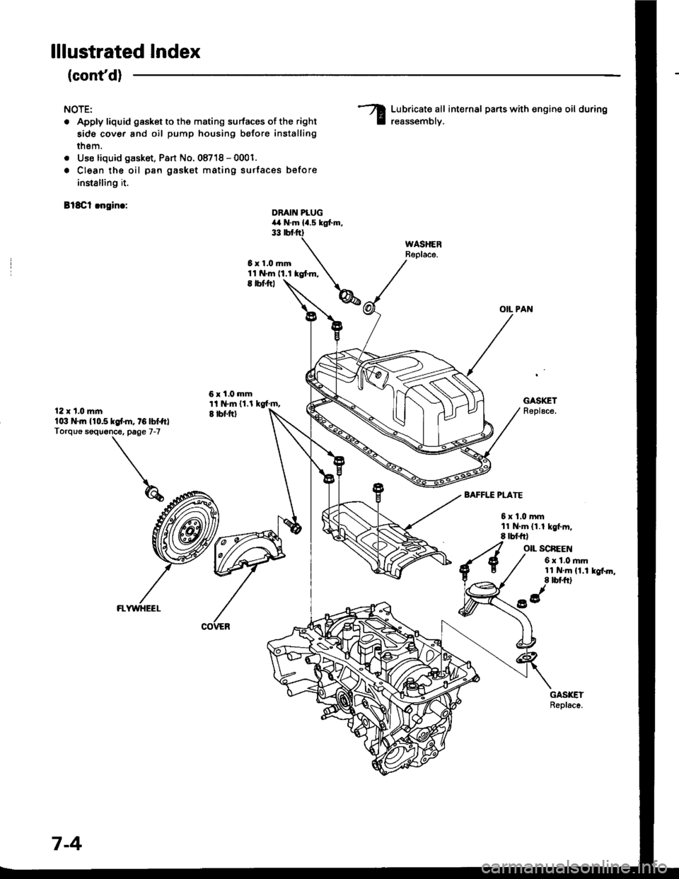 HONDA INTEGRA 1994 4.G Workshop Manual (1413 Pages), Page