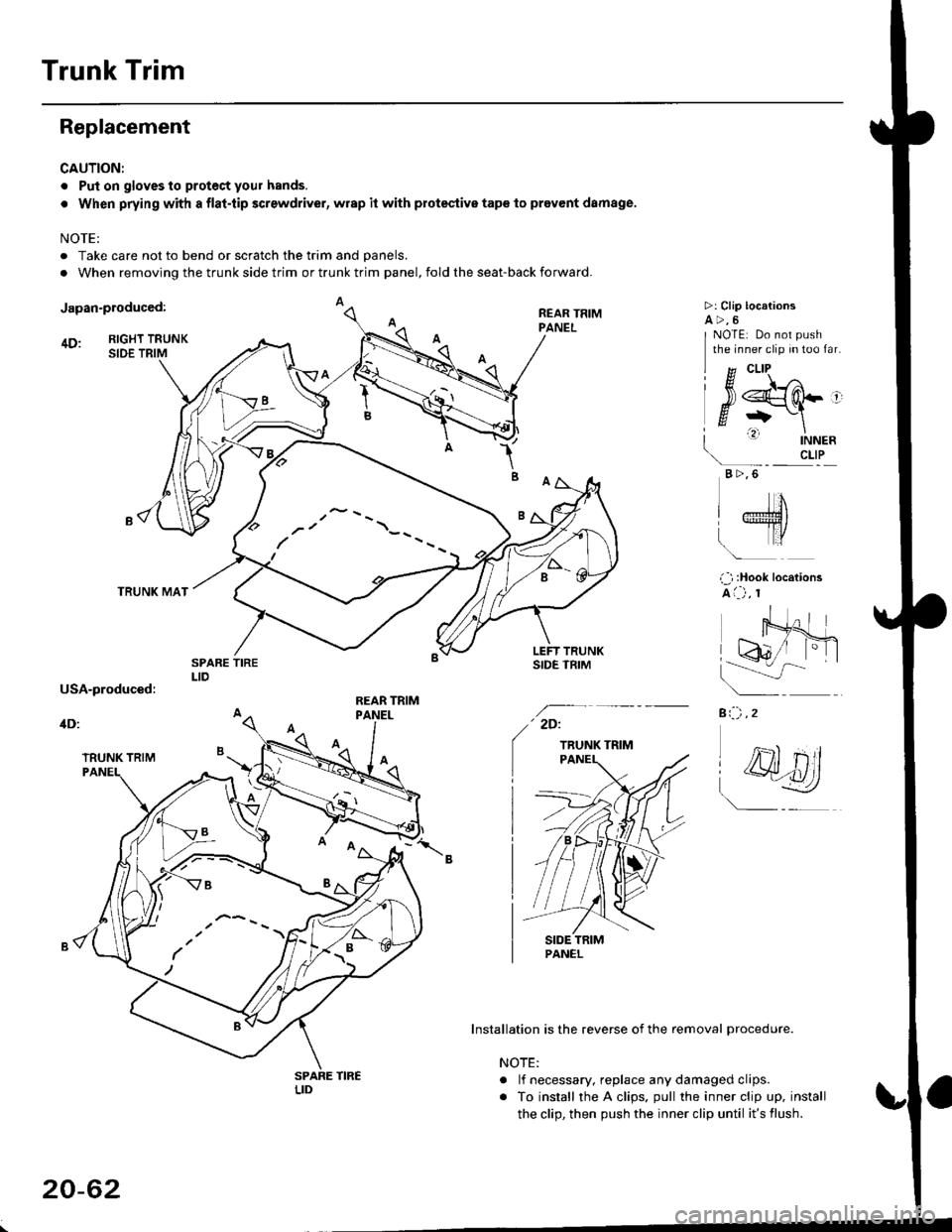 HONDA CIVIC 1997 6.G Workshop Manual (2189 Pages), Page