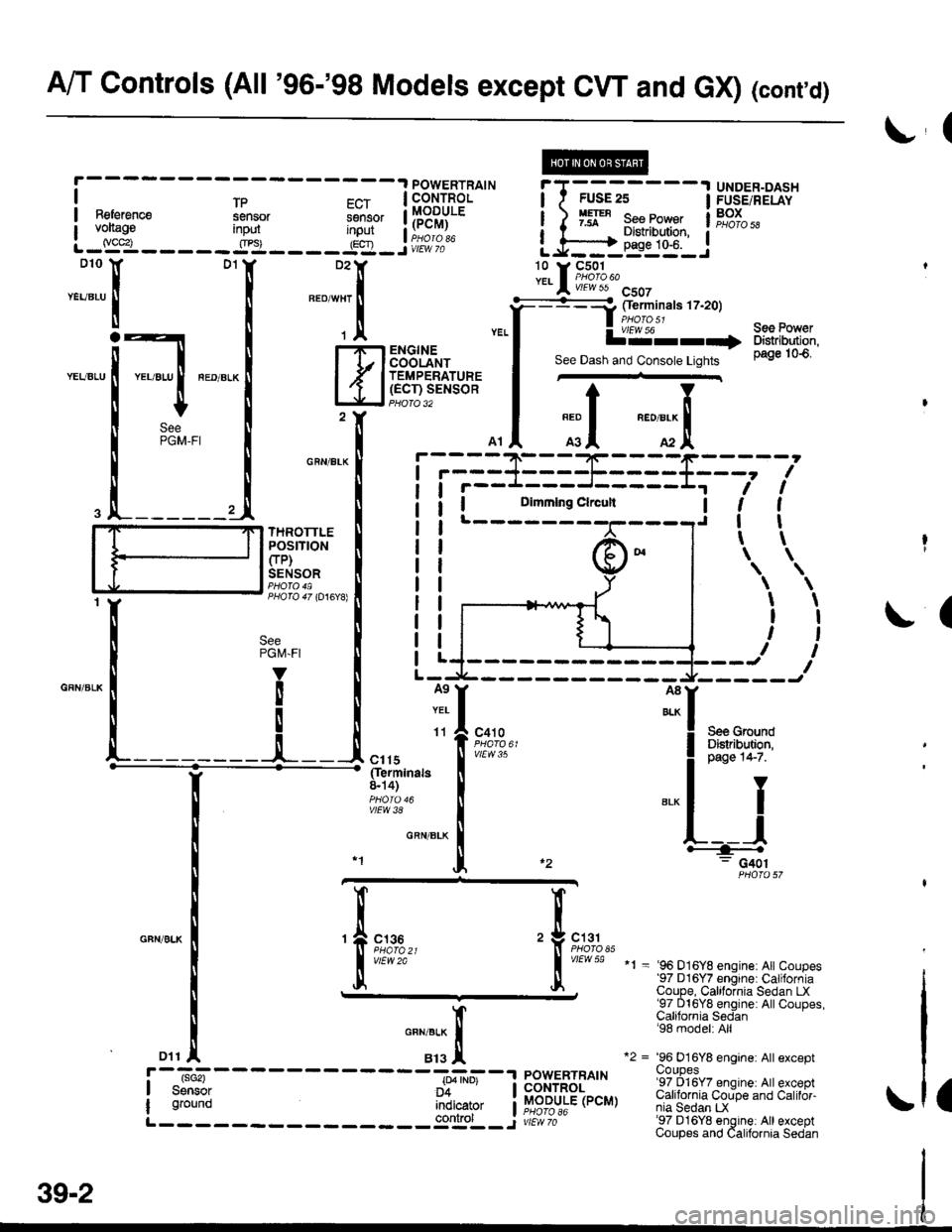 engine HONDA CIVIC 1997 6.G Workshop Manual
