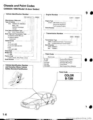 HONDA CIVIC 1999 6G Workshop Manual