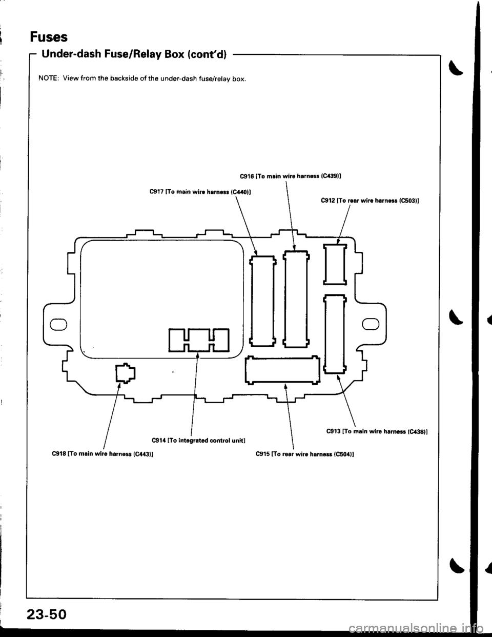 medium resolution of honda integra 1998 4 g workshop manual page 1107 fuses