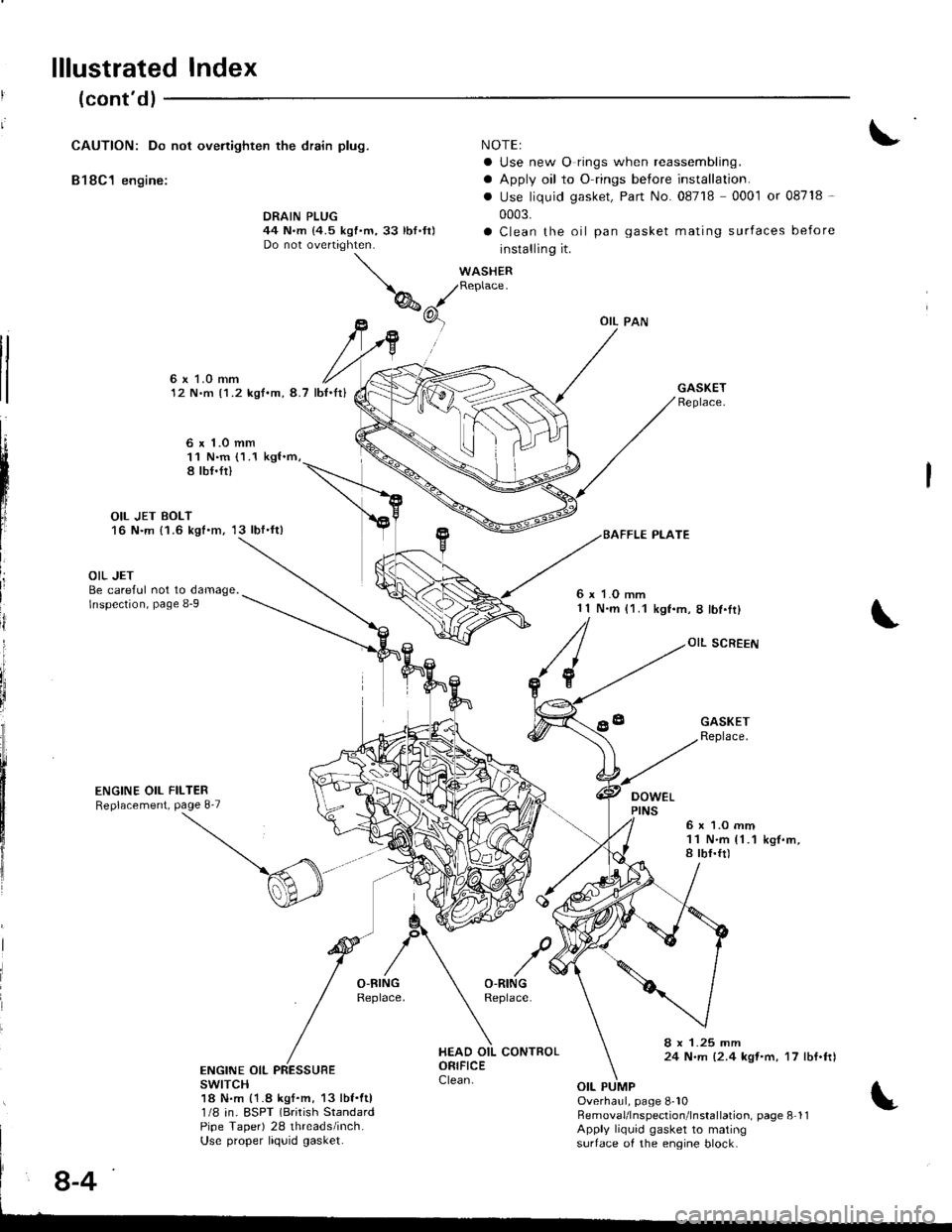 HONDA INTEGRA 1998 4.G Workshop Manual