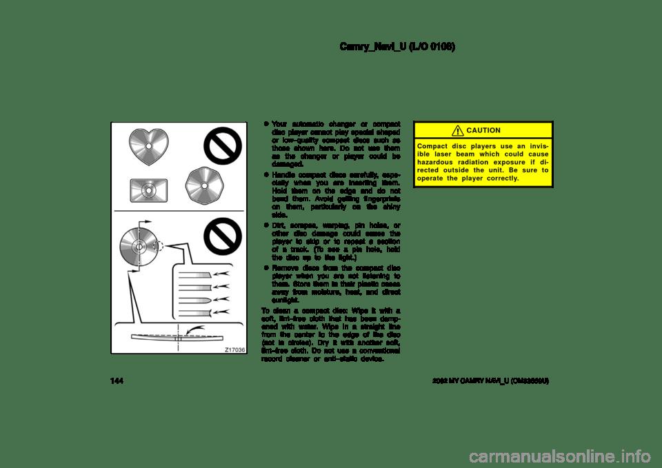 TOYOTA CAMRY 2002 XV30 / 7.G Navigation Manual