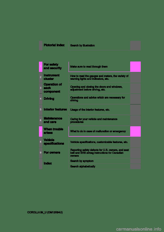 TOYOTA COROLLA iM 2017 11.G Owners Manual