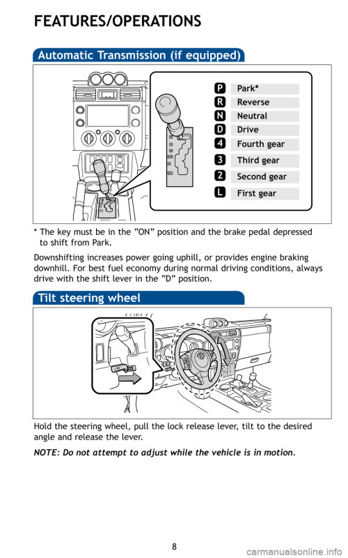 small resolution of toyota fj cruiser 2011 1 g quick reference guide page 10